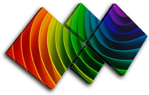 Rainbow Design Abstract - 13-1035(00B)-MP19-LO